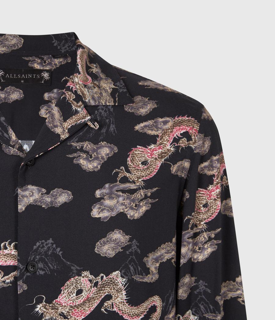Men's Hongshan Shirt (jet_black_grey) - Image 4