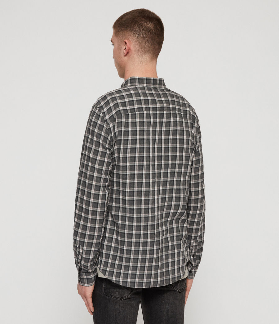 Men's Amos Shirt (grey_pink) - Image 5