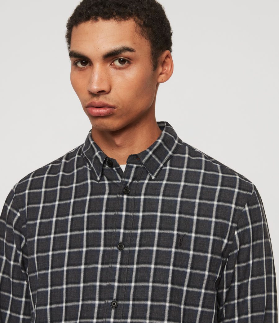 Hombre Camisa Amos (charcoal_blue) - Image 2