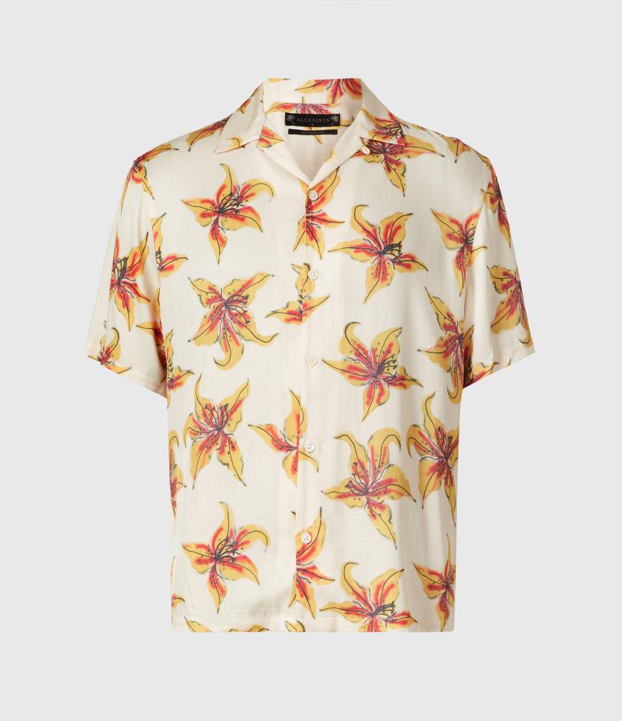 Men's Hibiscus Shirt (ecru) - Image 2