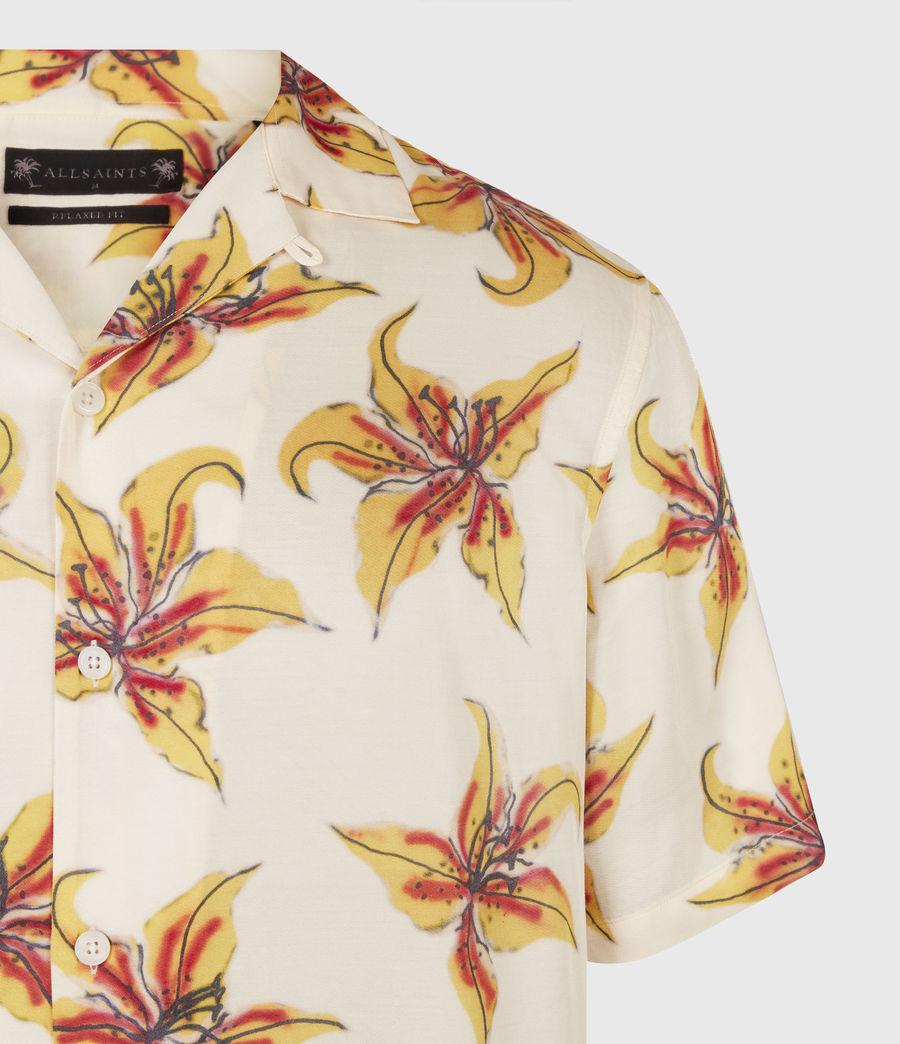 Men's Hibiscus Shirt (ecru) - Image 5