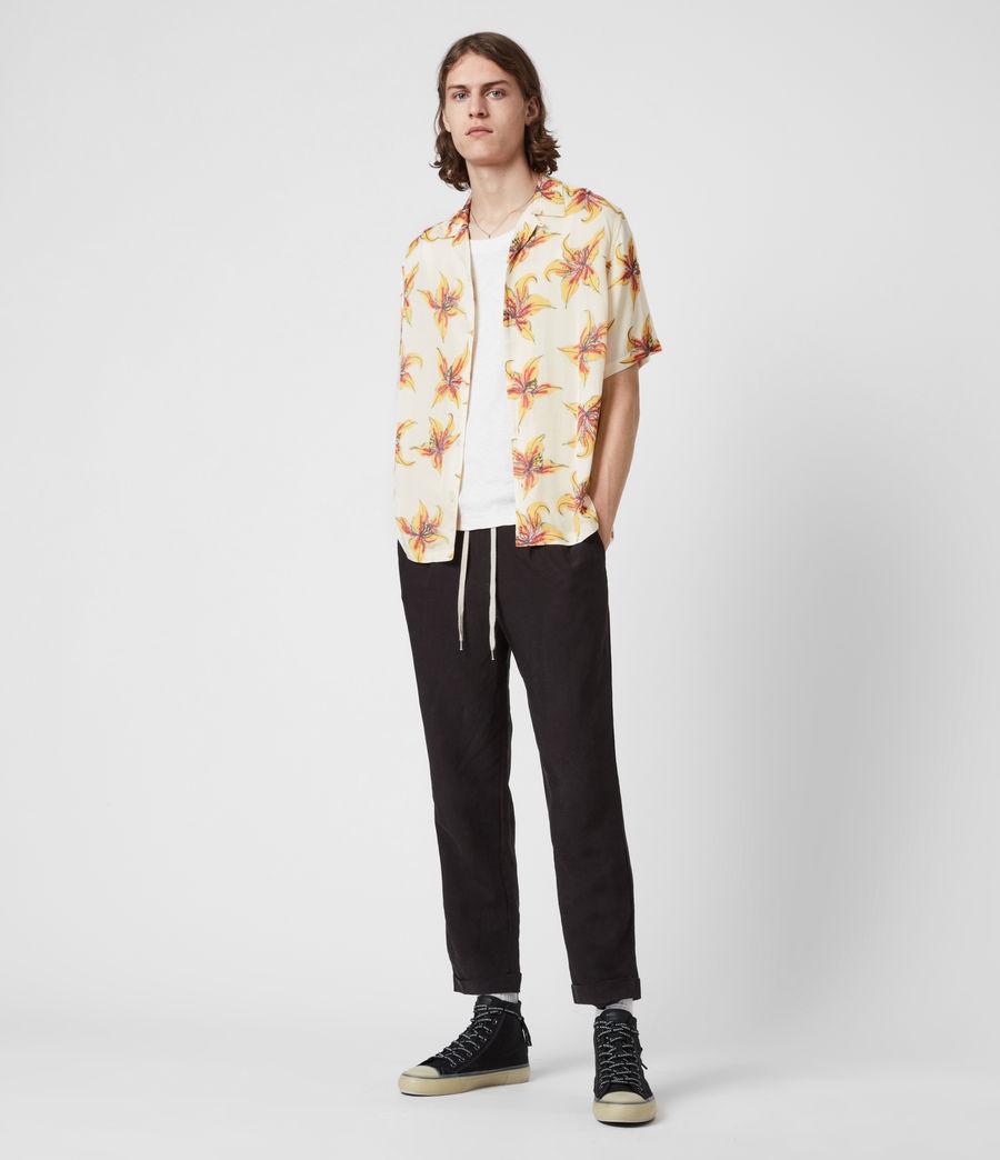 Men's Hibiscus Shirt (ecru) - Image 6
