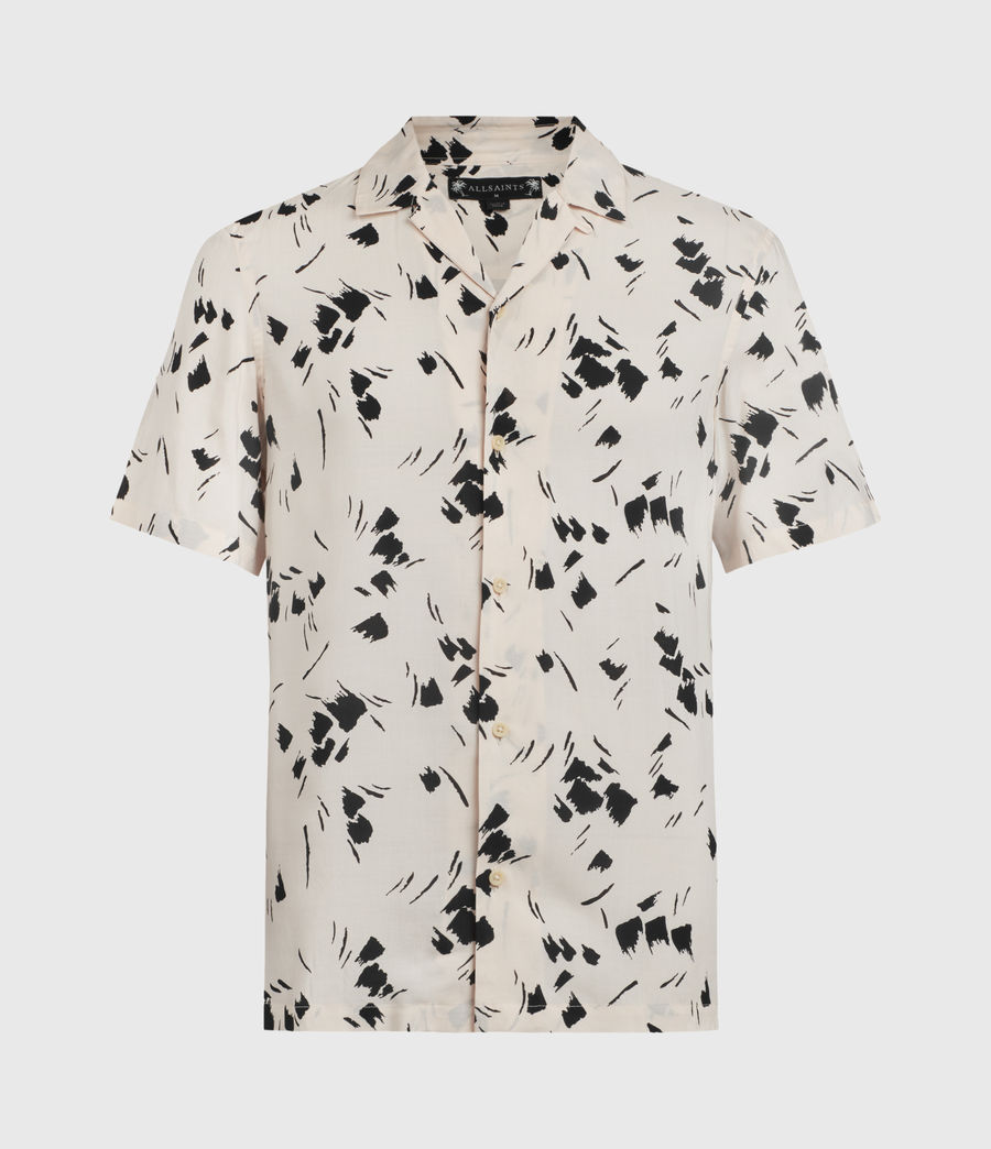 Mens Borealis Shirt (ecru_jet_black) - Image 1