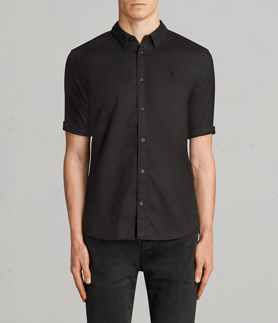 Men's Topanga Half Sleeve Shirt (black) - Image 1