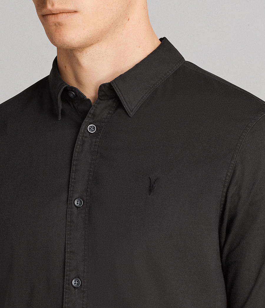 Men's Topanga Half Sleeve Shirt (black) - Image 2