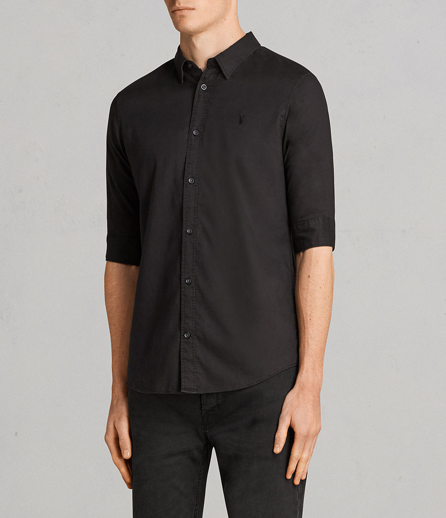 Men's Topanga Half Sleeve Shirt (black) - Image 3