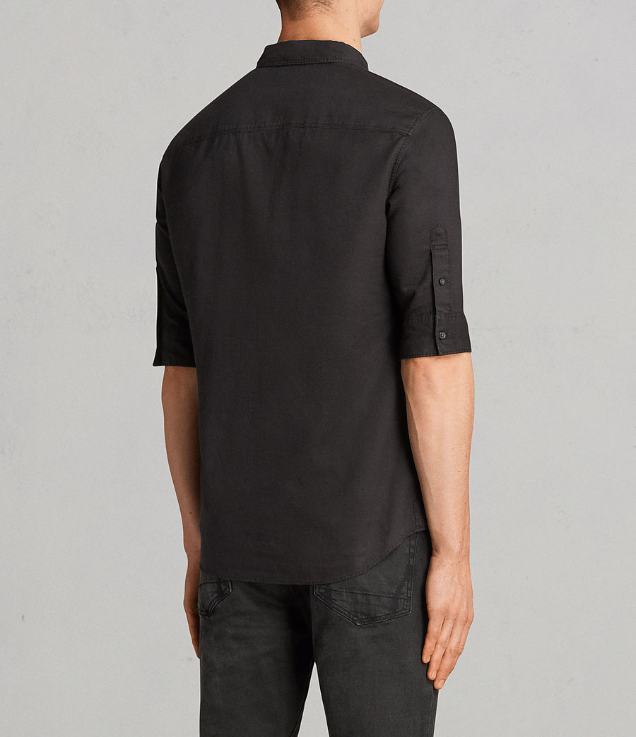 Men's Topanga Half Sleeve Shirt (black) - Image 4