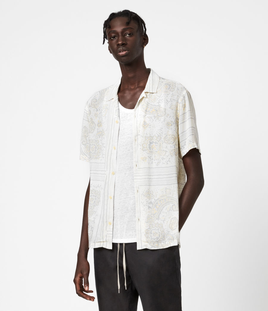 Mens Ventura Short Sleeve Shirt (off_white) - Image 1