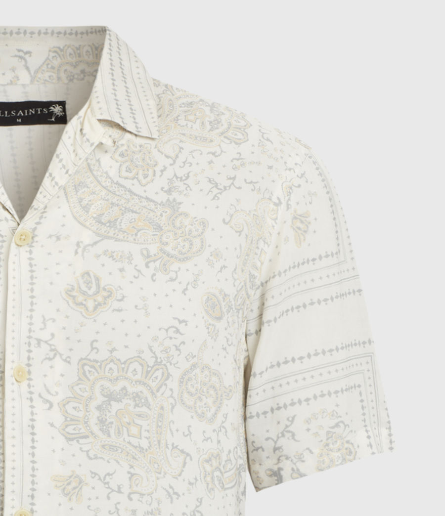 Mens Ventura Short Sleeve Shirt (off_white) - Image 4