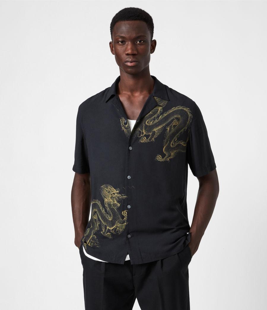 Mens Tyranus Shirt (jet_black_yellow) - Image 1