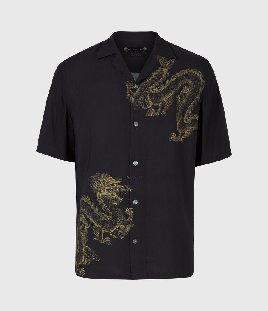 Mens Tyranus Shirt (jet_black_yellow) - Image 2