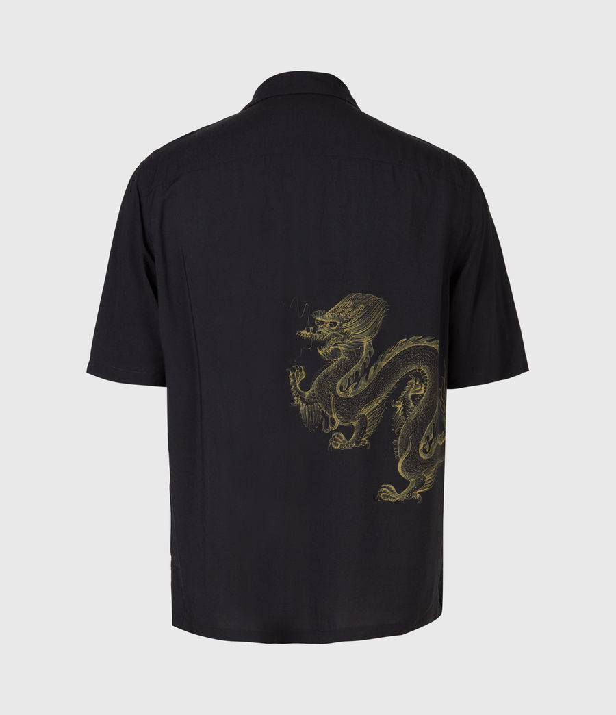 Mens Tyranus Shirt (jet_black_yellow) - Image 3