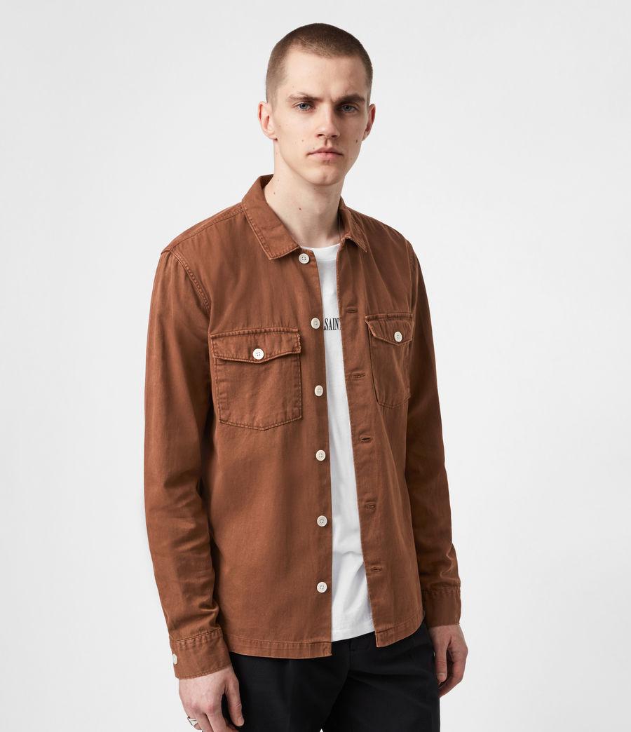 Men's Spotter Shirt (saddle_brown) - Image 1