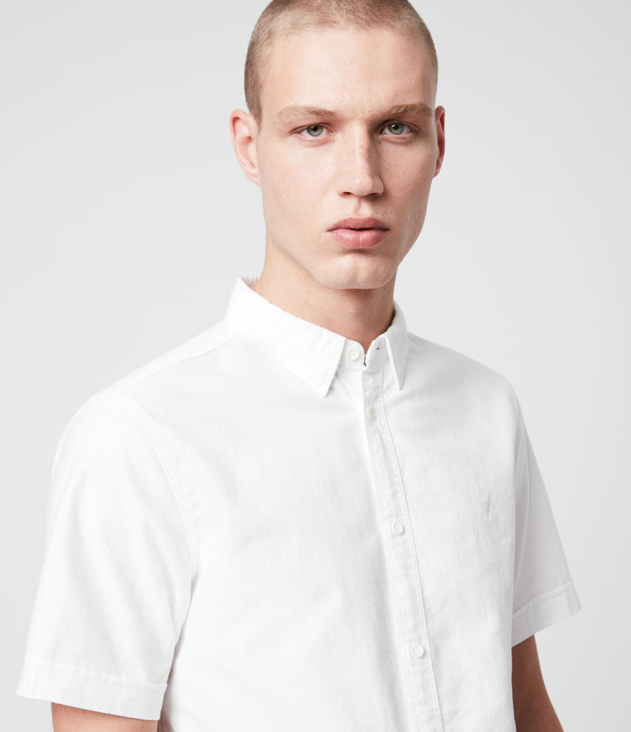 Mens Huntingdon Short Sleeve Shirt (white) - Image 7