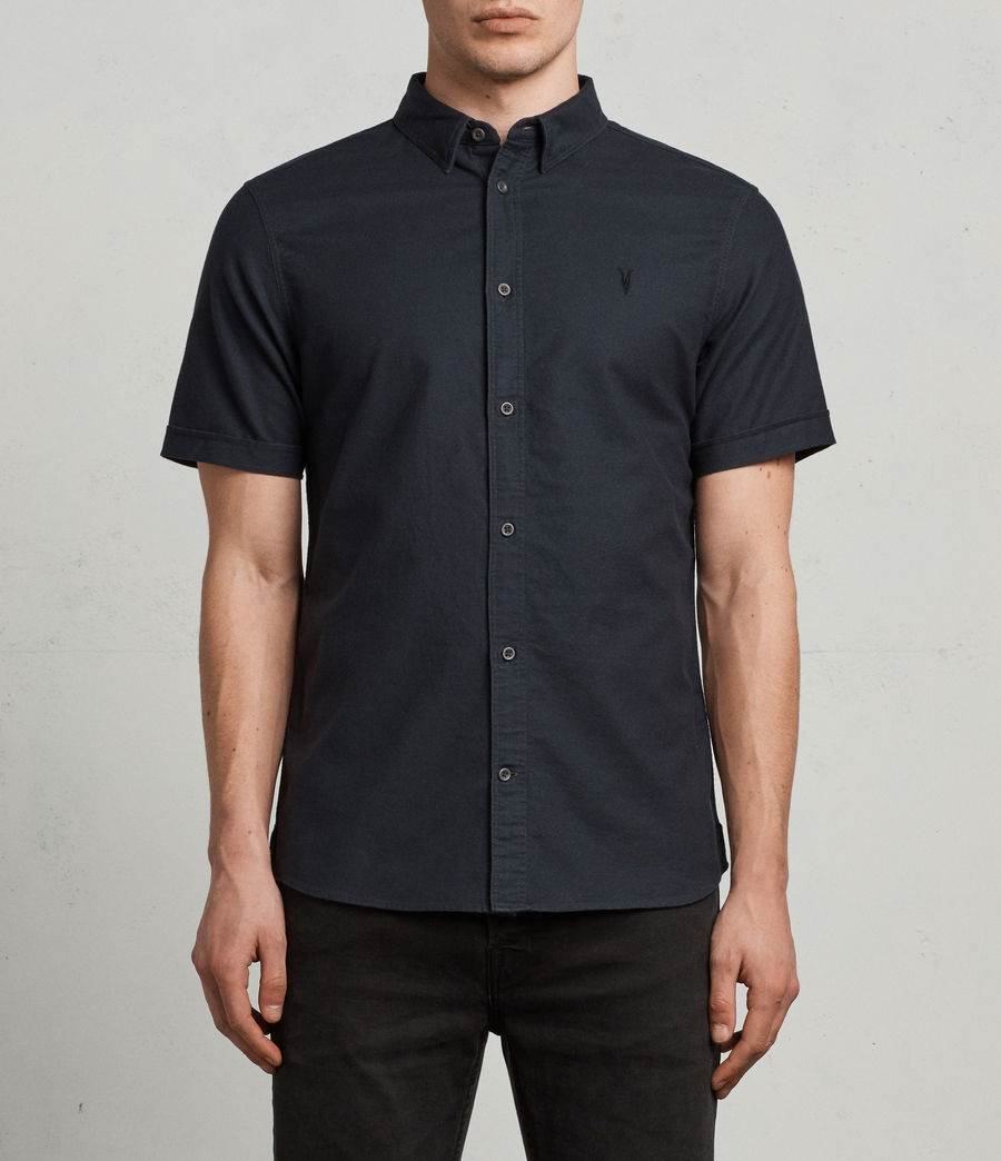 Hombres Huntingdon Short Sleeve Shirt (ink_navy) - Image 1