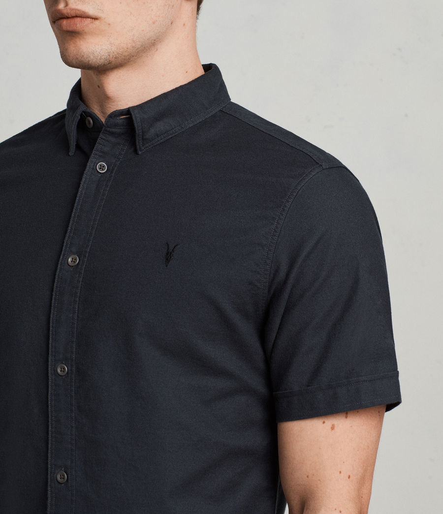 Hombres Huntingdon Short Sleeve Shirt (ink_navy) - Image 2