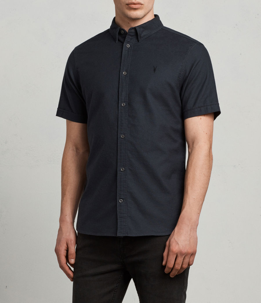 Hombres Huntingdon Short Sleeve Shirt (ink_navy) - Image 3