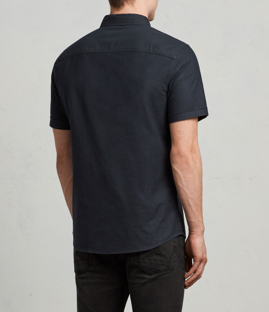 Hombres Huntingdon Short Sleeve Shirt (ink_navy) - Image 4