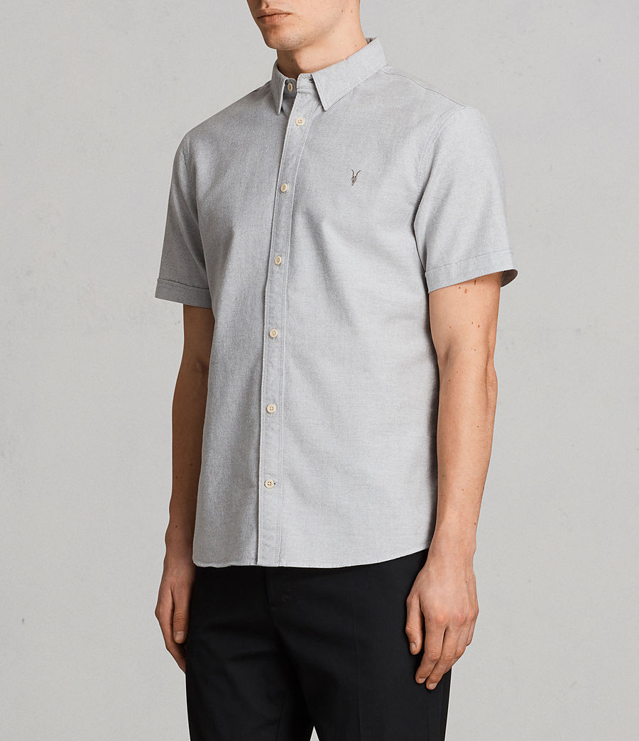 Mens Hungtingdon Short Sleeve Shirt (DARK GULL GREY) - Image 3