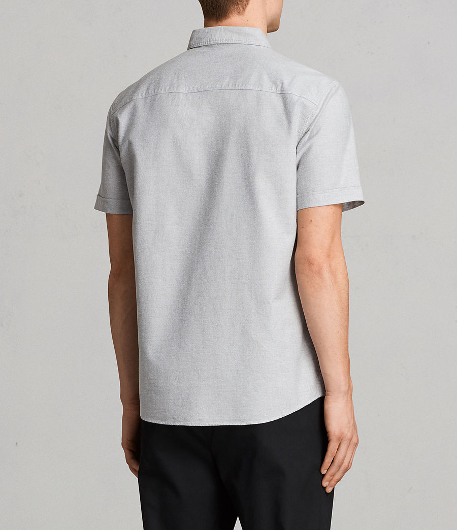 Mens Huntingdon Short Sleeve Shirt (dark_gull_grey) - Image 5