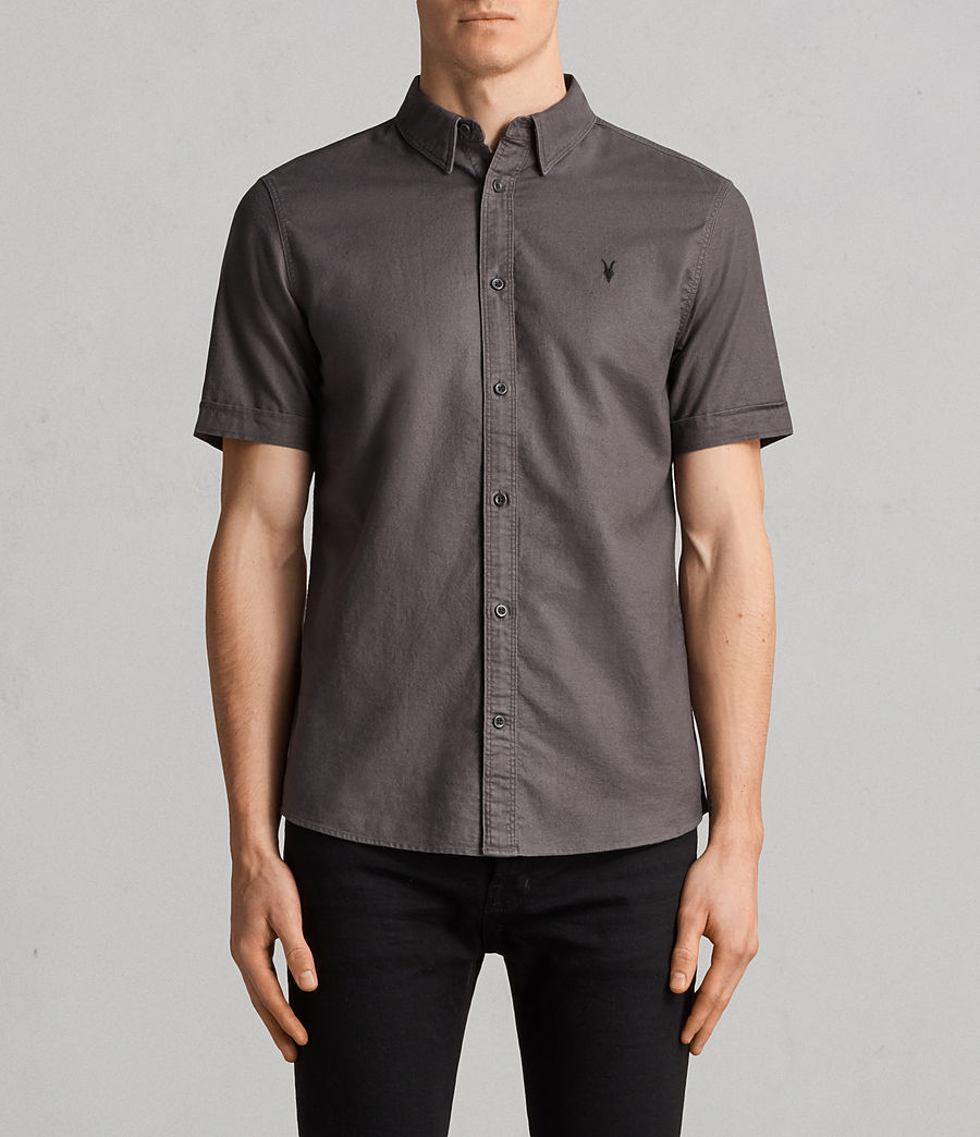Men's Huntingdon Short Sleeve Shirt (heath_grey) - Image 1