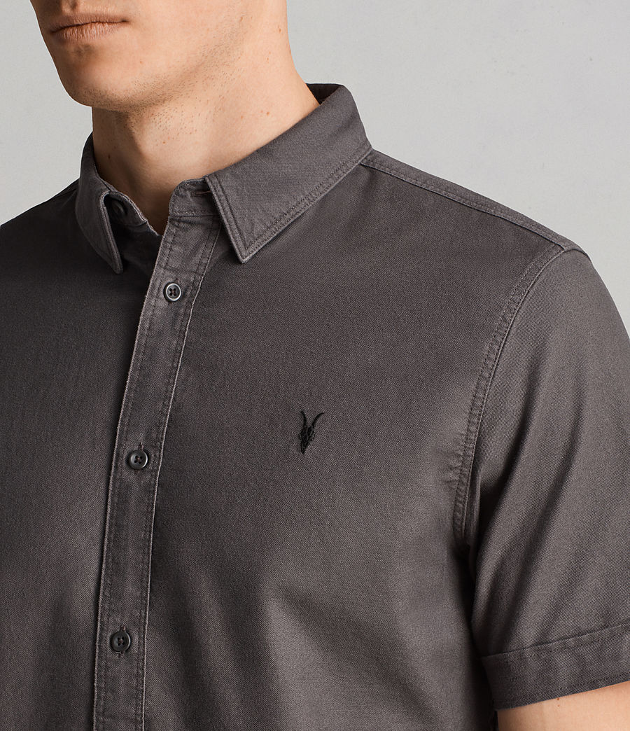 Hombres Camisa de manga corta Hungtingdon (heath_grey) - Image 2