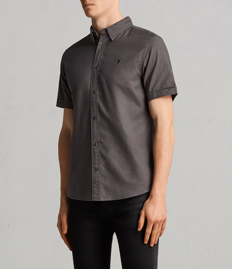 Men's Huntingdon Short Sleeve Shirt (heath_grey) - Image 3