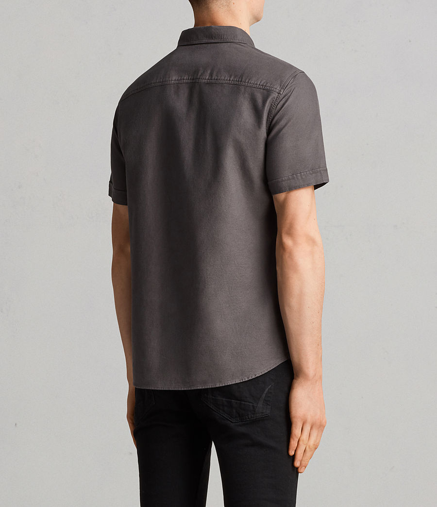 Hombres Camisa de manga corta Hungtingdon (heath_grey) - Image 4