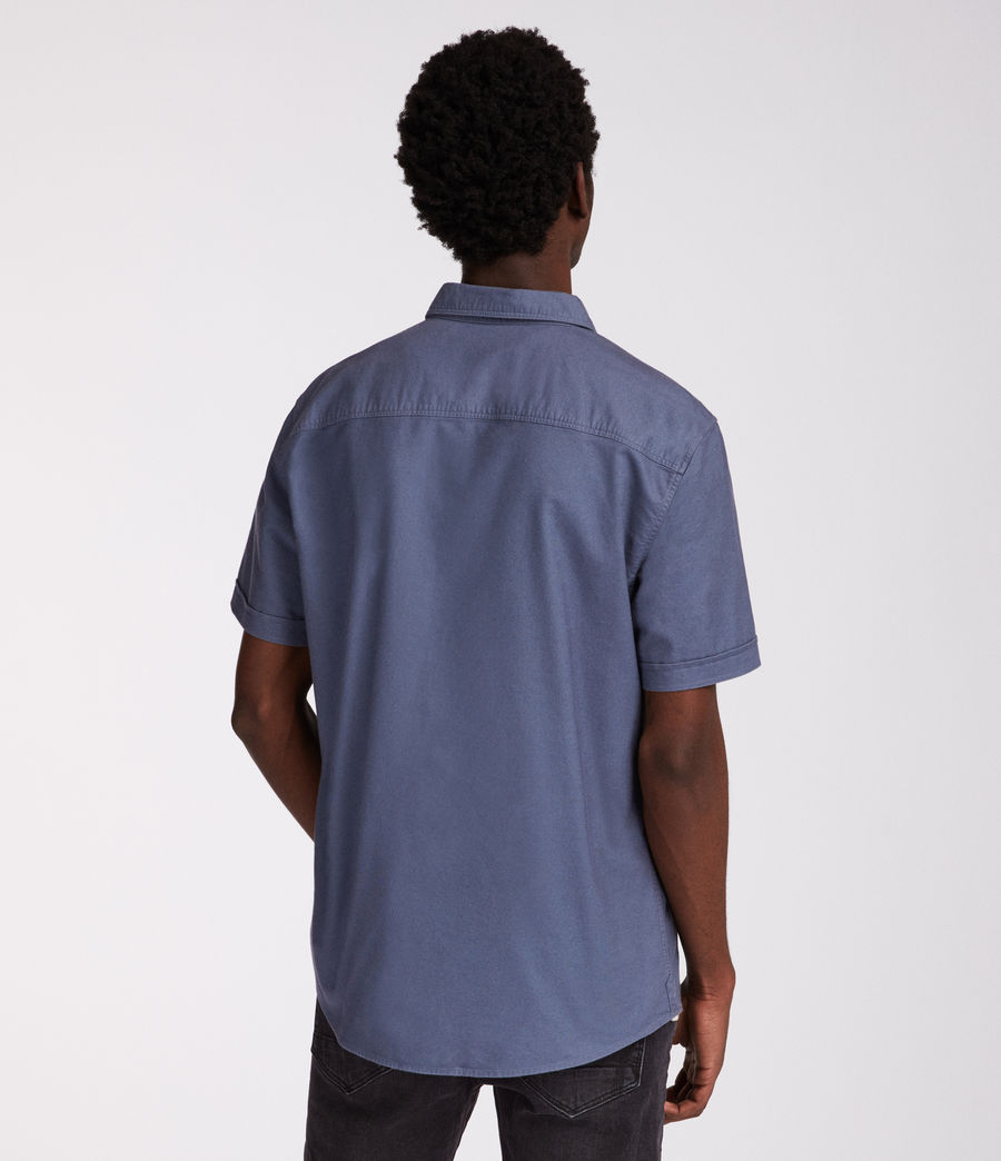 Men's Huntingdon Short Sleeve Shirt (light_blue) - Image 4