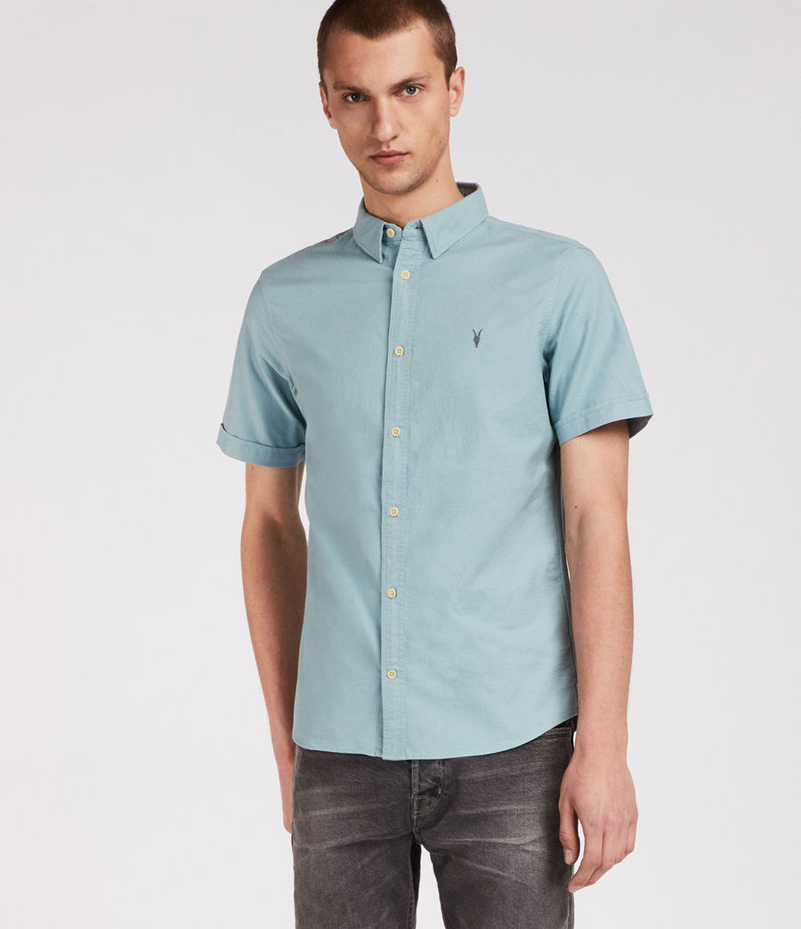 Mens Huntingdon Short Sleeve Shirt (lago_green) - Image 1