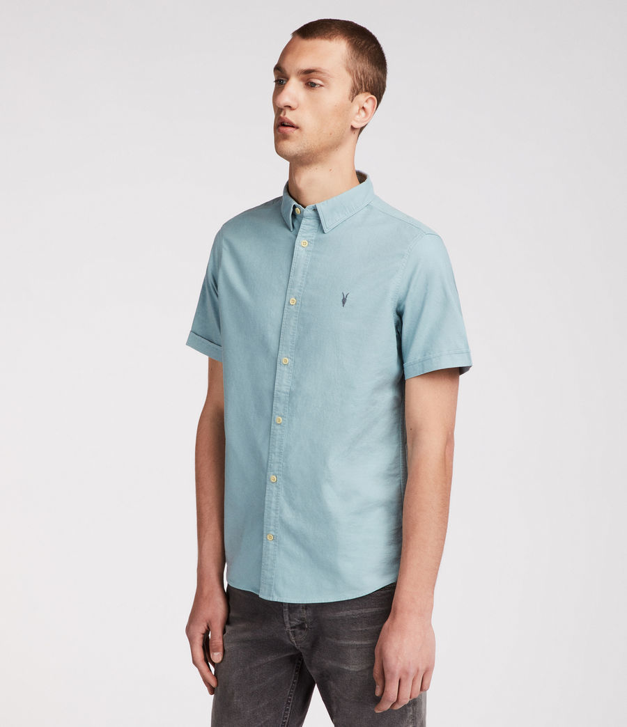 Mens Huntingdon Short Sleeve Shirt (lago_green) - Image 2
