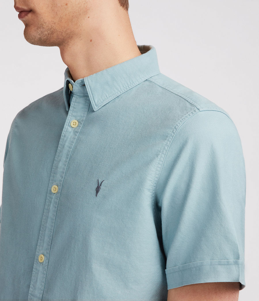 Mens Huntingdon Short Sleeve Shirt (lago_green) - Image 3