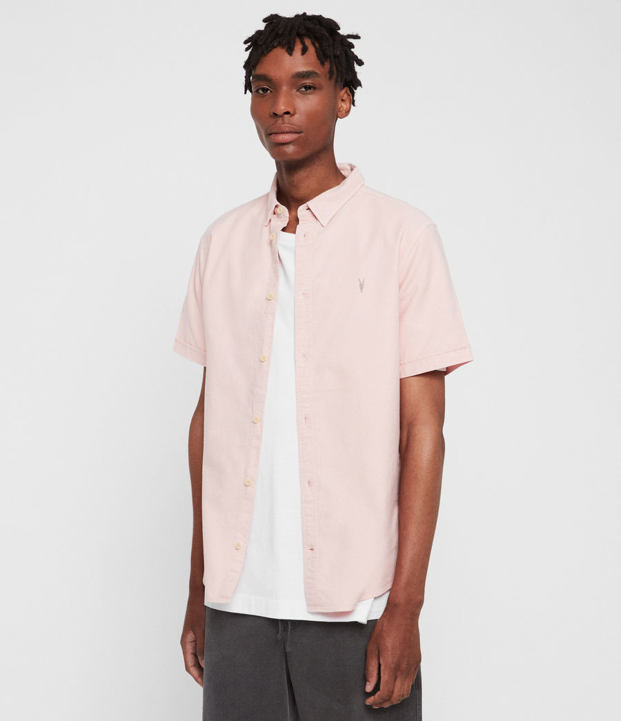 Mens Hungtingdon Short Sleeve Shirt (bleach_pink) - Image 1