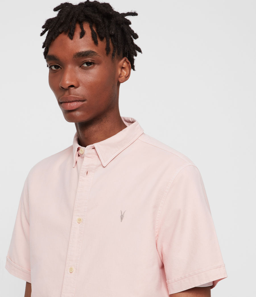Mens Hungtingdon Short Sleeve Shirt (bleach_pink) - Image 2