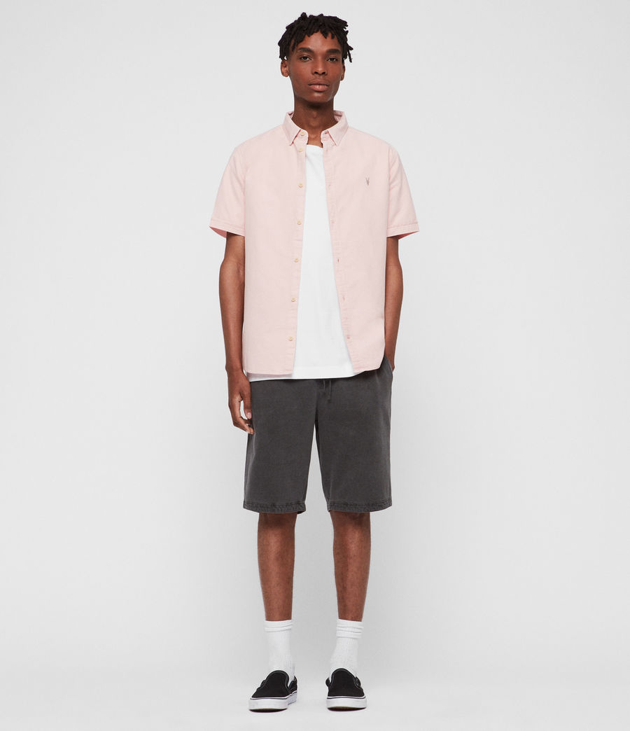 Mens Hungtingdon Short Sleeve Shirt (bleach_pink) - Image 3