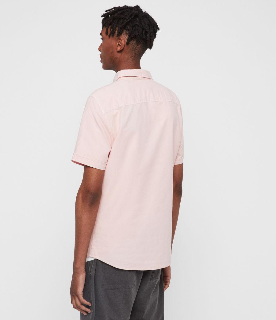 Mens Hungtingdon Short Sleeve Shirt (bleach_pink) - Image 4