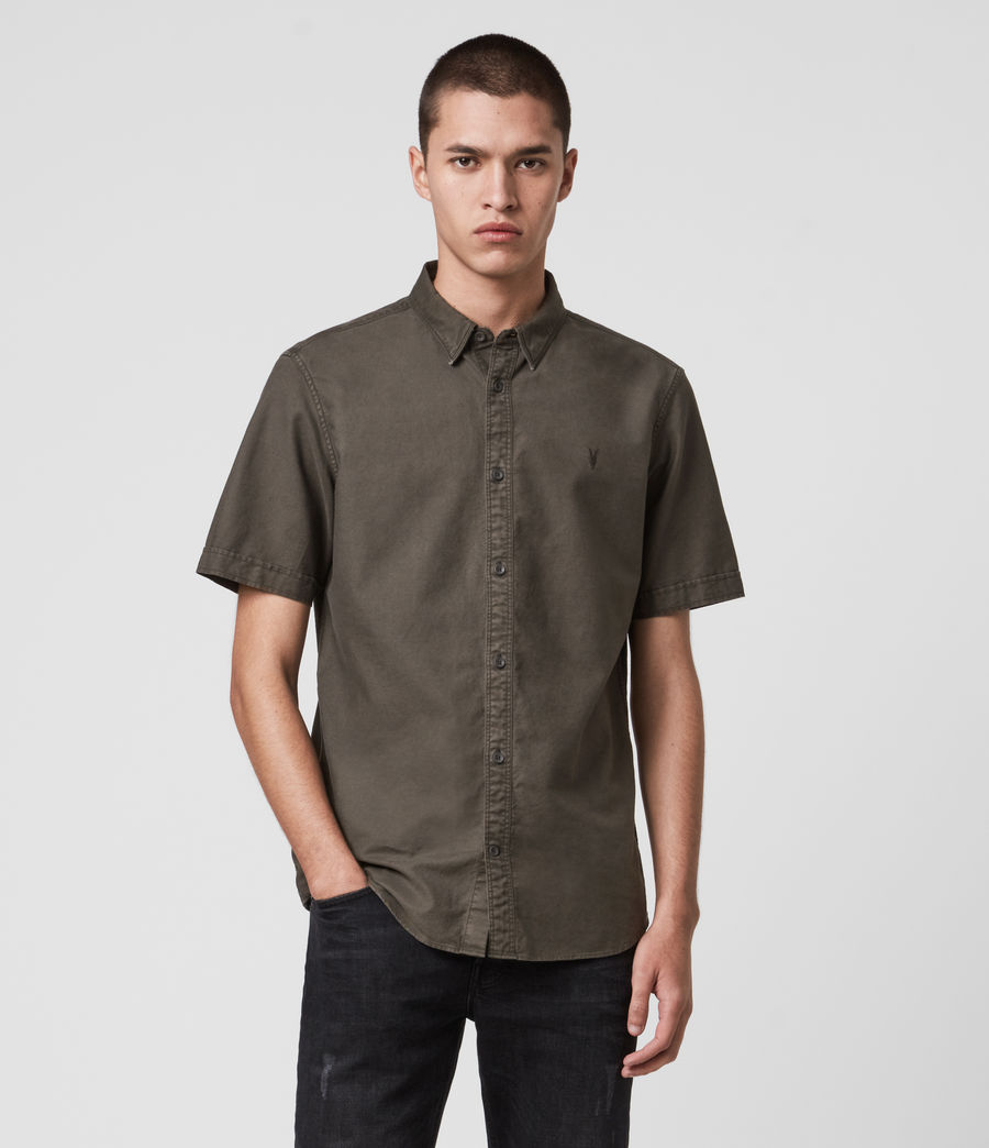 Mens Huntingdon Short Sleeve Shirt (sidewalk_grey) - Image 1