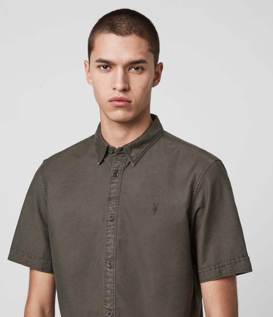 Mens Huntingdon Short Sleeve Shirt (sidewalk_grey) - Image 2