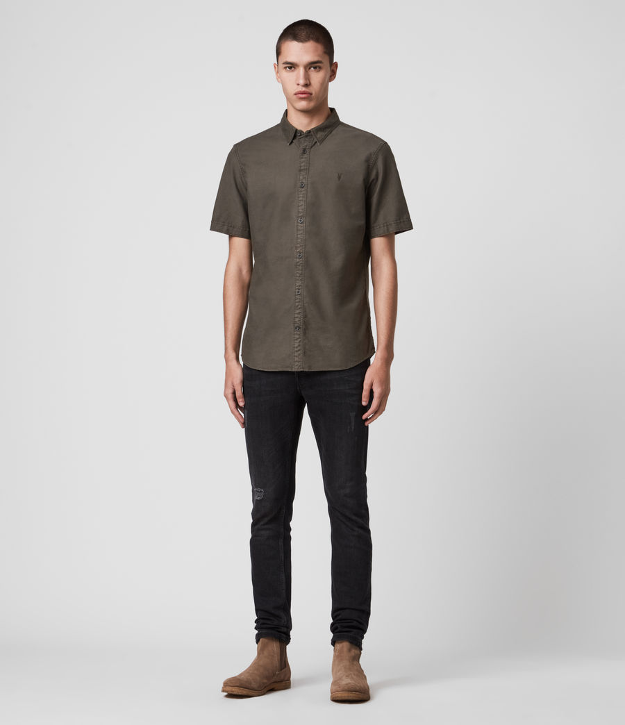 Mens Huntingdon Short Sleeve Shirt (sidewalk_grey) - Image 3