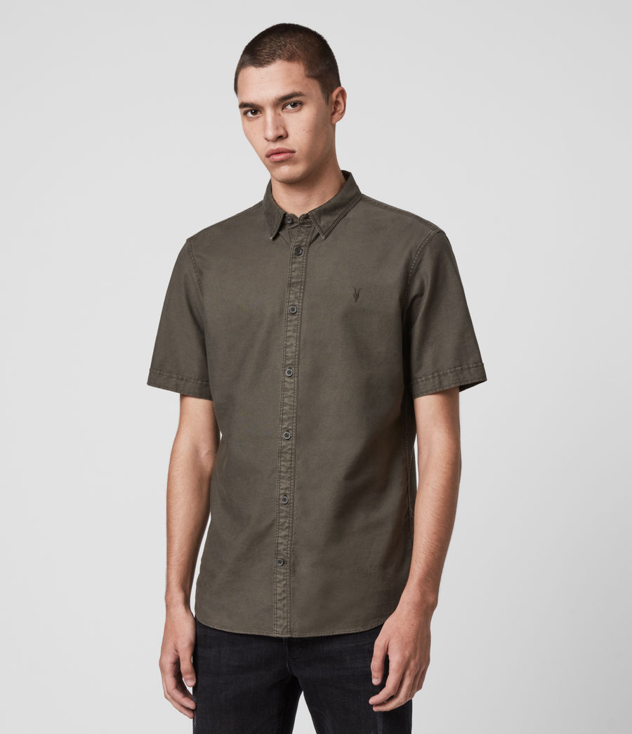 Hombre Huntingdon Short Sleeve Shirt (sidewalk_grey) - Image 4