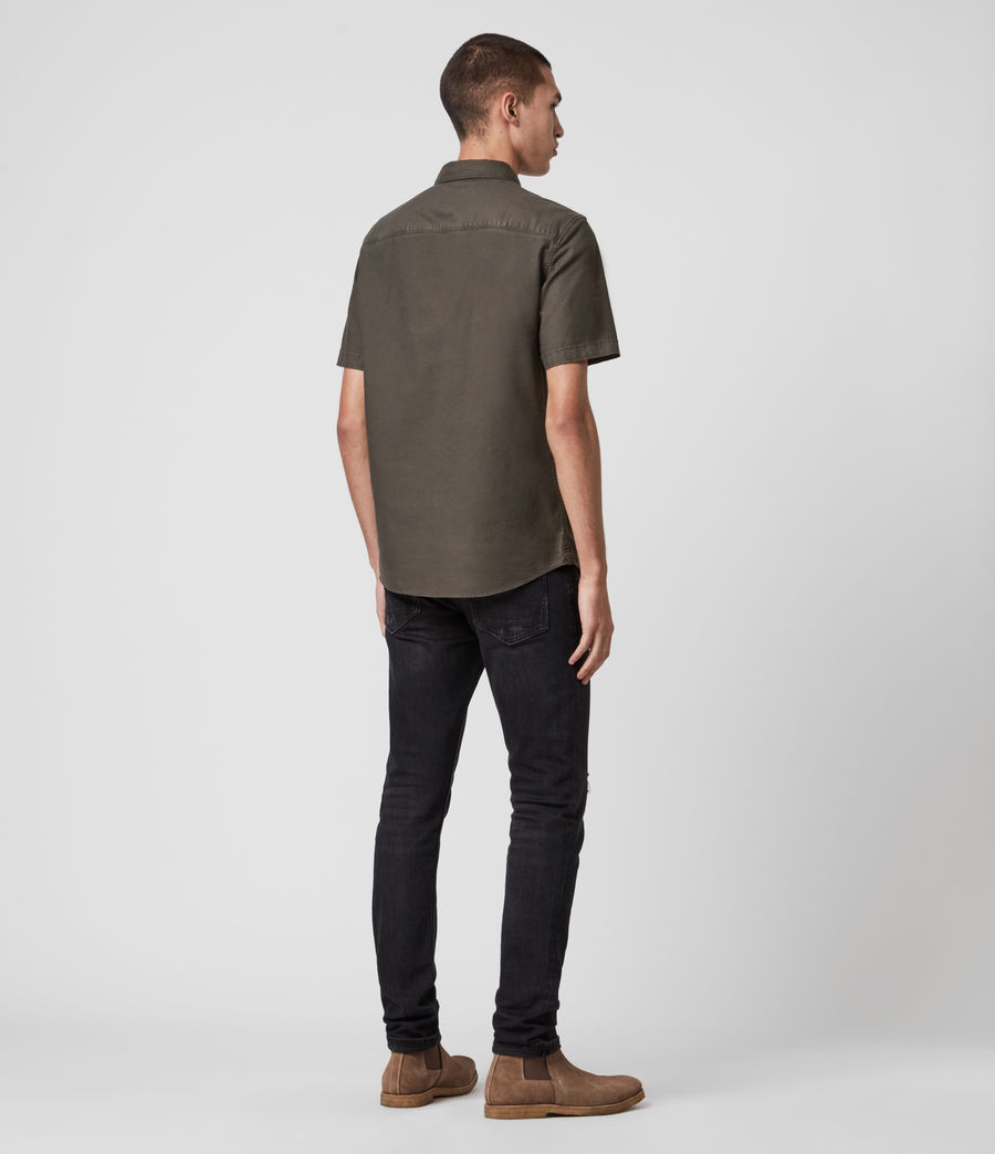 Hombre Huntingdon Short Sleeve Shirt (sidewalk_grey) - Image 5
