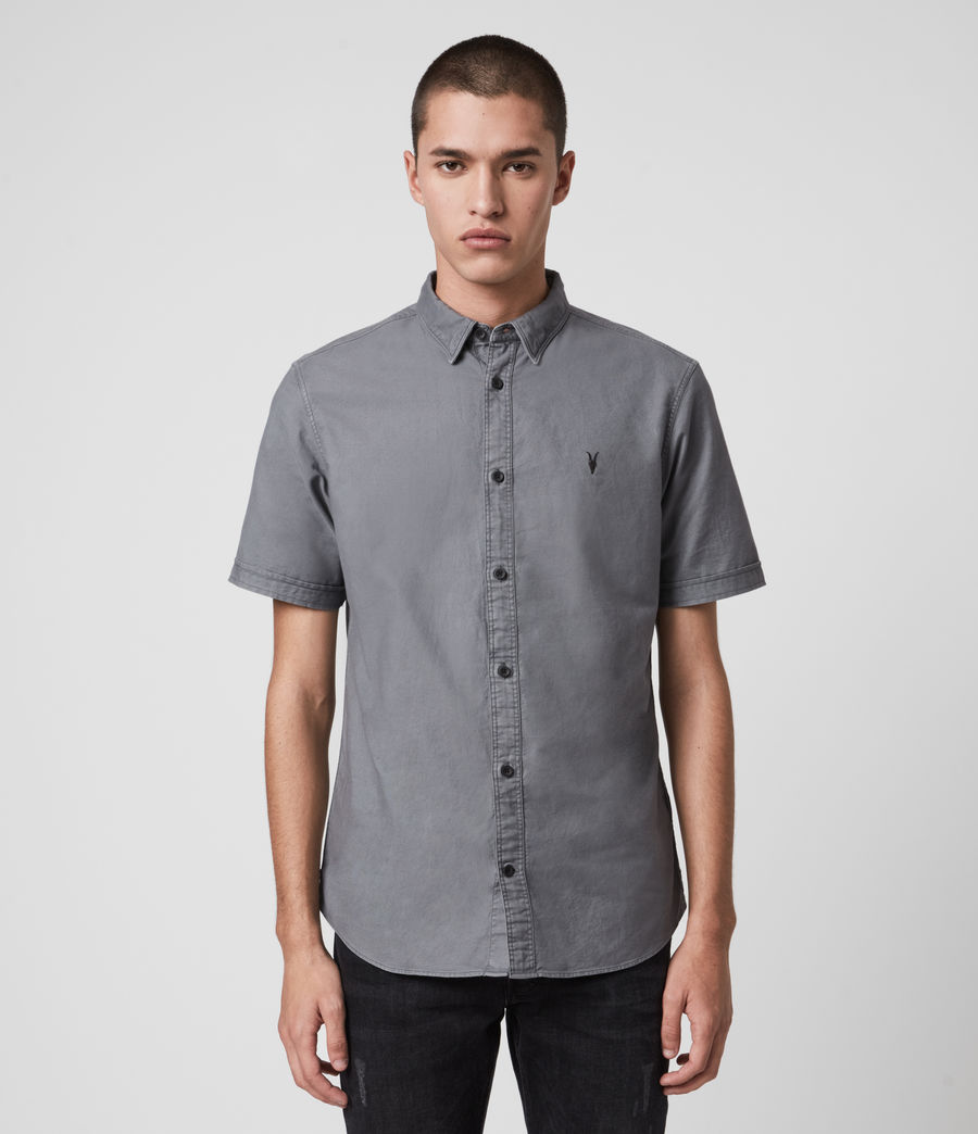 Hombre Huntingdon Short Sleeve Shirt (ridge_blue) - Image 1