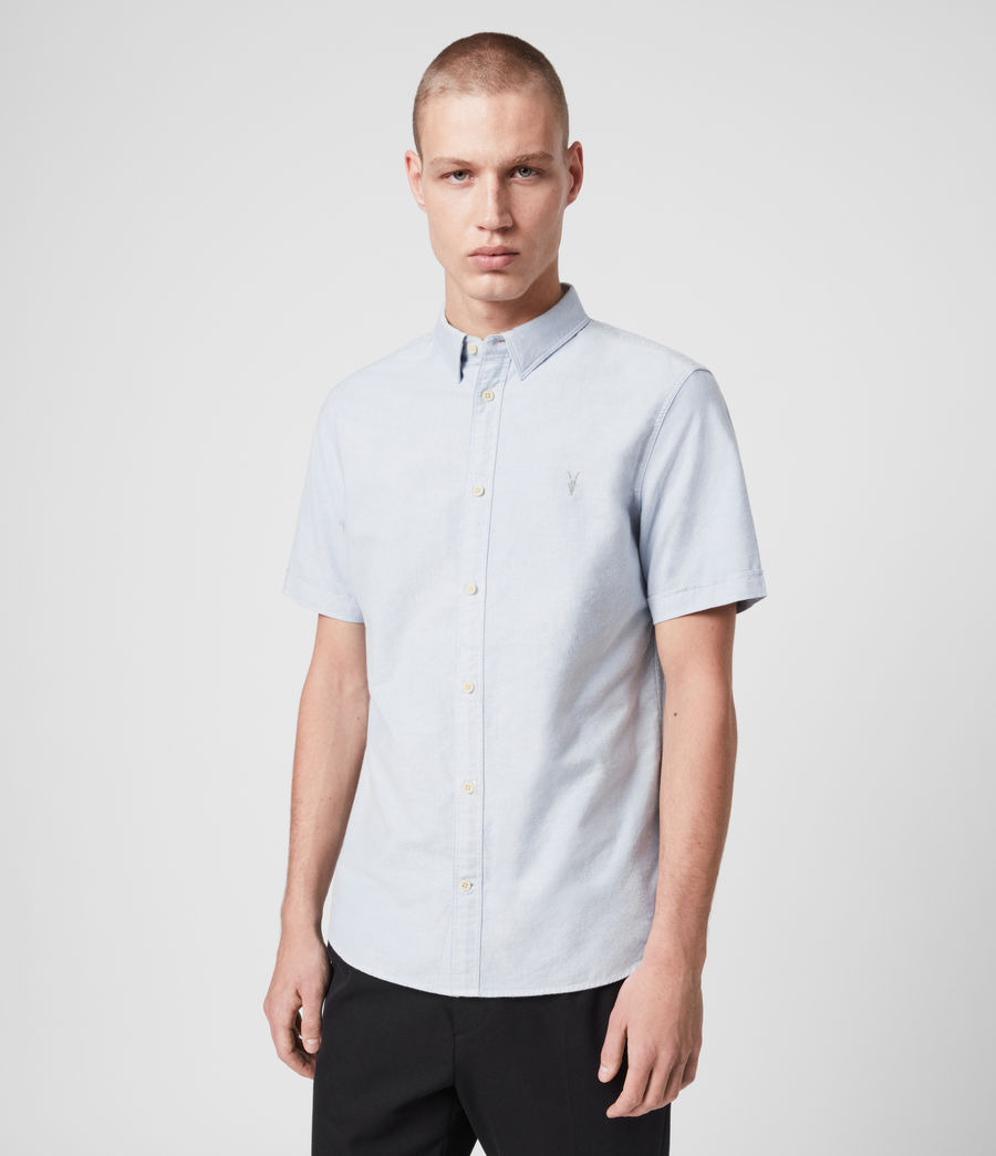 Mens Huntingdon Short Sleeve Shirt (light_blue) - Image 1