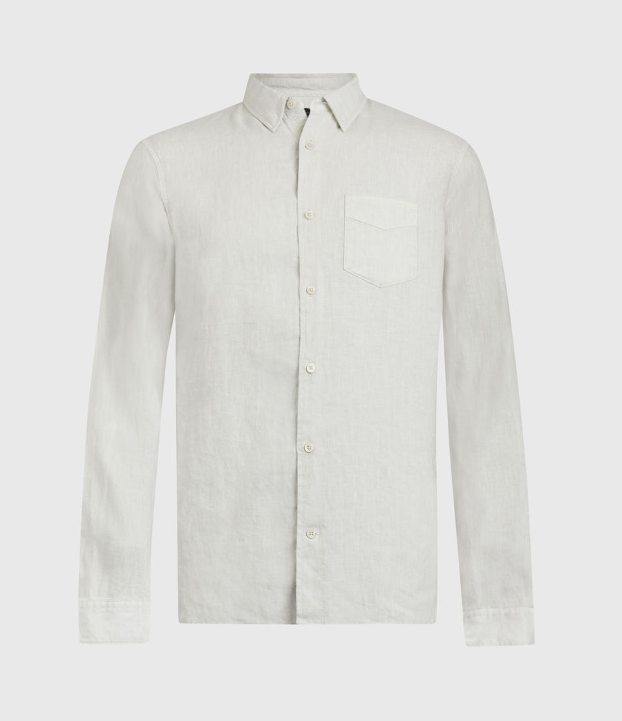Mens Gilles Linen Shirt (bleach_grey) - Image 2