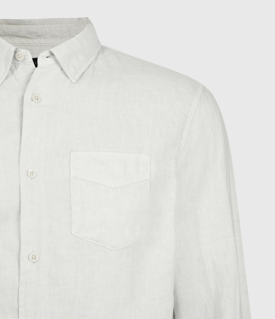 Mens Gilles Linen Shirt (bleach_grey) - Image 4