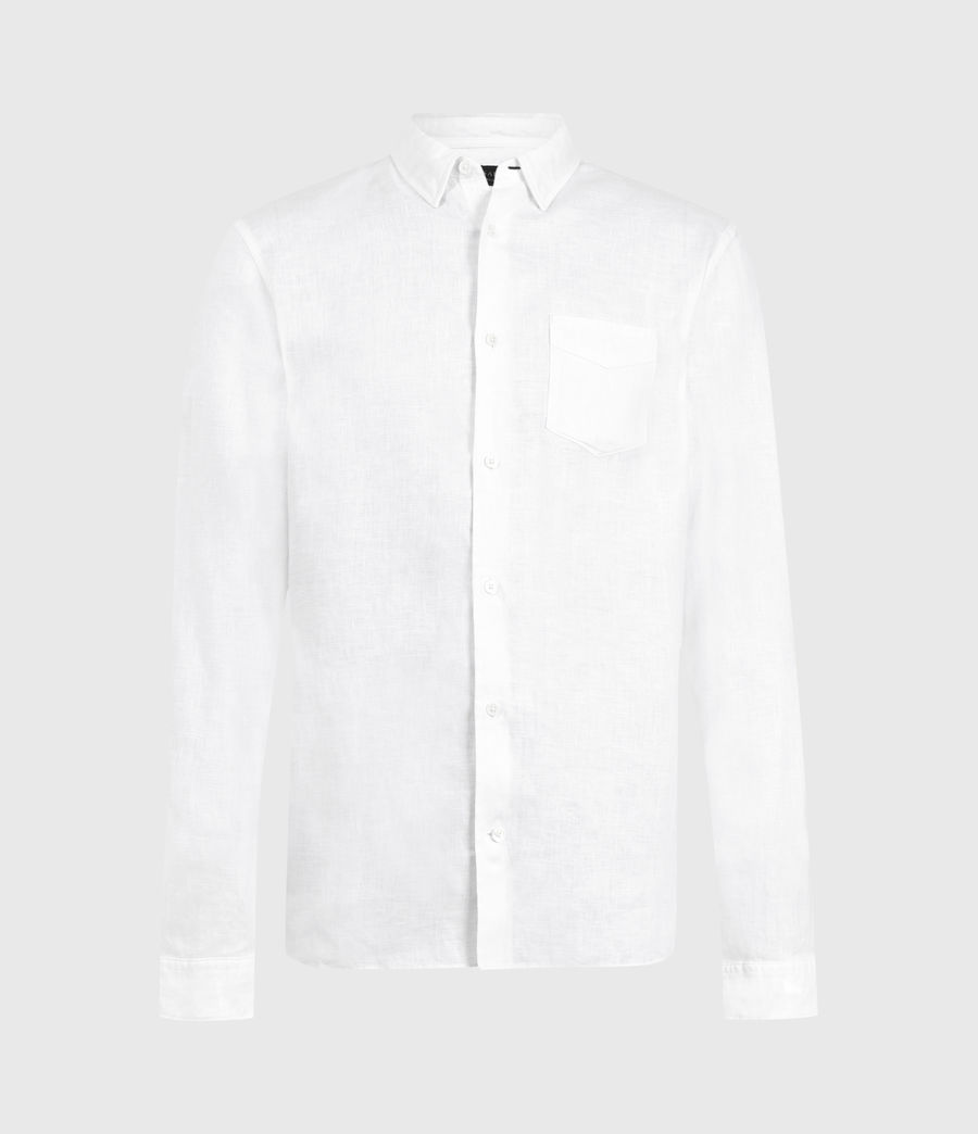 Men's Gilles Linen Shirt (optic_white) - Image 1