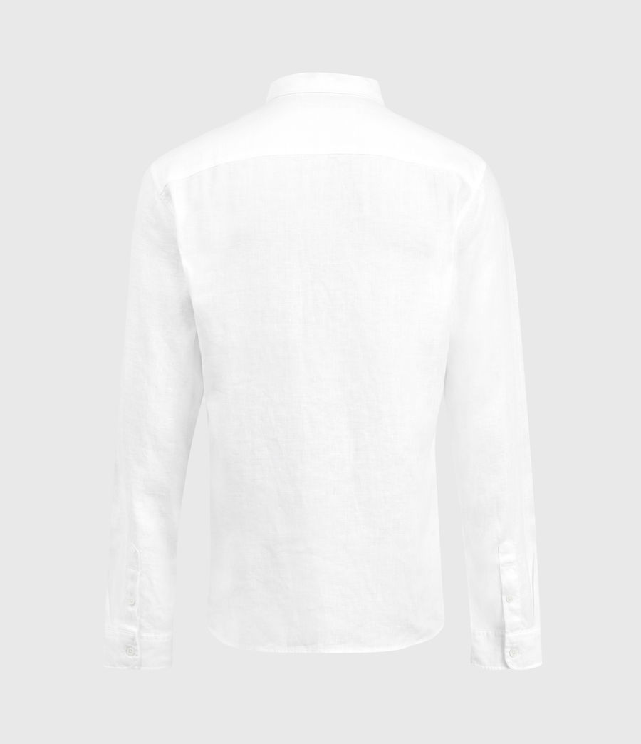 Men's Gilles Linen Shirt (optic_white) - Image 2
