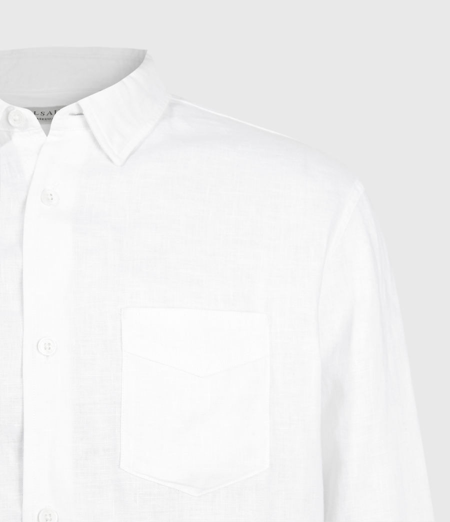 Men's Gilles Linen Shirt (optic_white) - Image 3