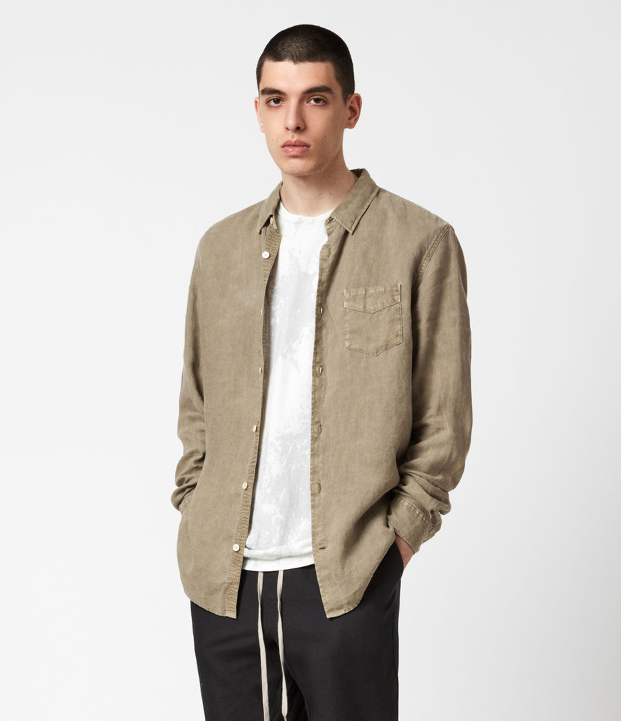 Men's Gilles Linen Shirt (safari_taupe) - Image 1