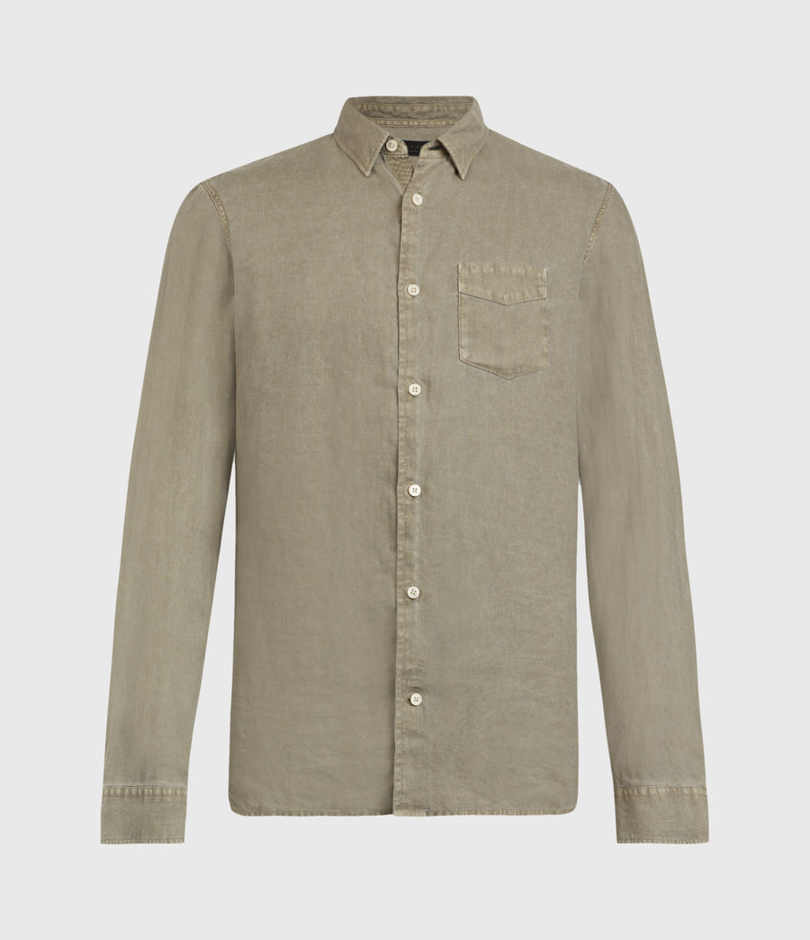 Men's Gilles Linen Shirt (safari_taupe) - Image 2